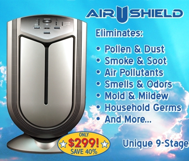 Ultra-Pure/Advanced PureAir's Top Rated Air Shield 9-Stage Air Purifier