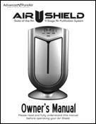 Air Shield Air Purifier Owners Manual